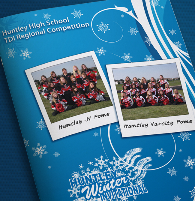 Poms Dance Team Program Cover