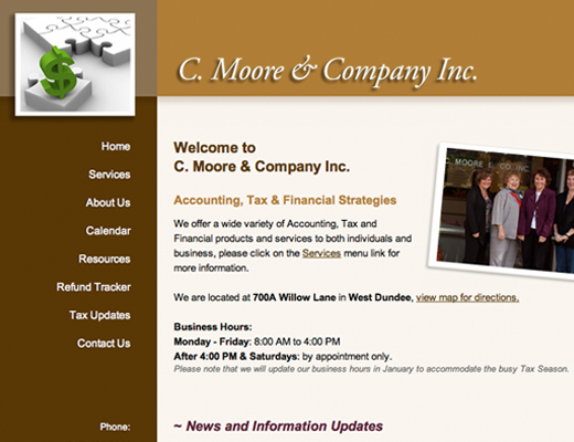 C. Moore & Company Website