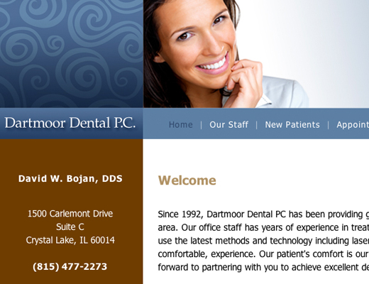 Dartmoor Dental PC Website