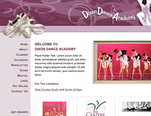 Dixon Dance Academy Website
