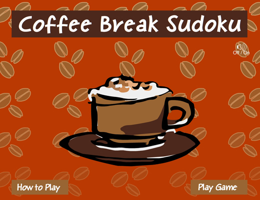 Coffee Break Sudoku Flash Game