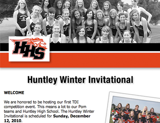 Huntley Winter Invitational Web Page