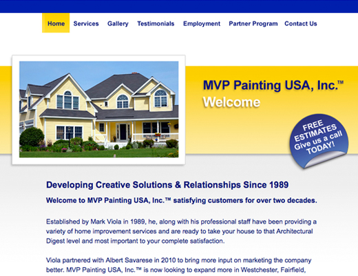 MVP Painting Website