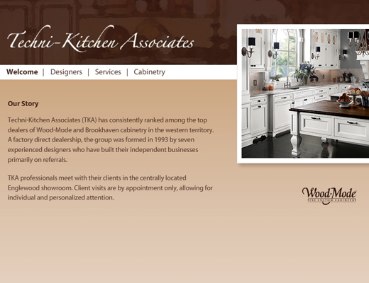 Techni-Kitchen Associates Website