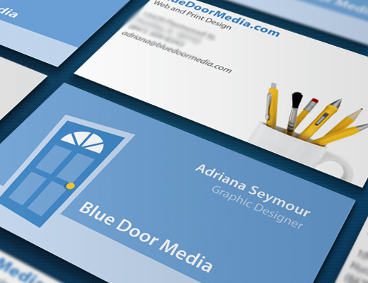 Blue Door Media Business Cards