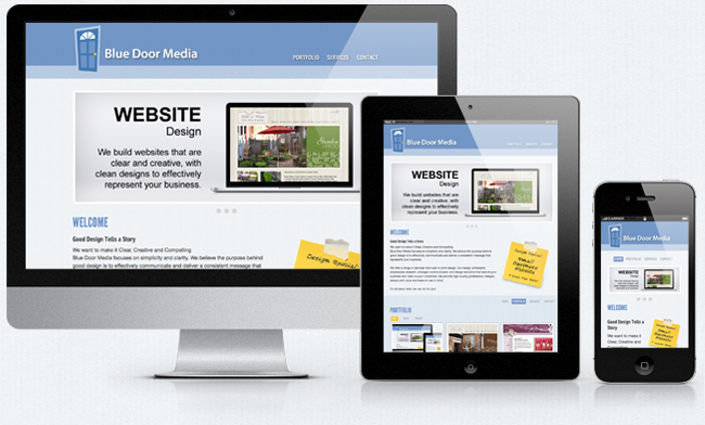 Blue Door Media Responsive Website