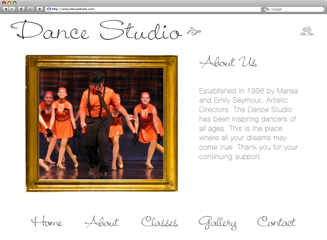 Dance Studio About