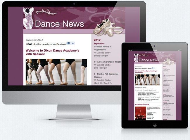 Dixon Dance Academy Email Newsletter